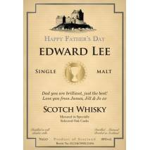 Father's Day Cup - Personalised Malt Whisky Label