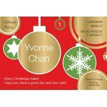 Christmas Label - Personalised Red Wine Label