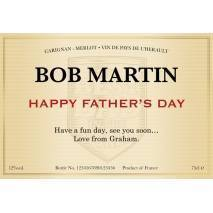 Classic - Red Wine - Father's Day Gift Label