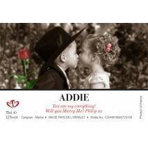 The Valentine Kiss - Personalised Red Wine Label