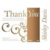 Swirls - Say Thank You with Rosé Wine Label