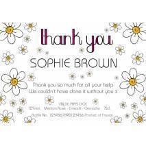 Thank You - Daisies - Personalised Rosé Wine Label