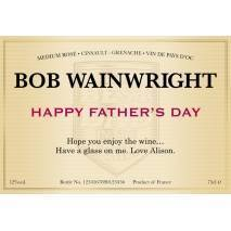 Classic - Rose Wine Label - Father's Day Gift