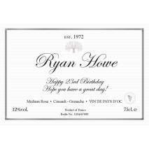 Classic Rosé - Personalised Rosé Wine Label