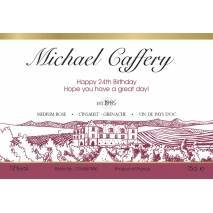 Vineyard - Personalised Rosé Wine Label