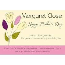 Personalised Mother's Day Rosé Wine Label - Bouquet