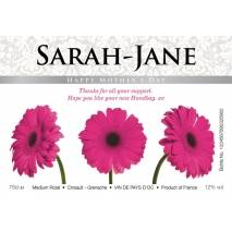 Gerberas - Rosé Wine Mother's Day Gifts Label