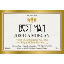 Gold Frame - Personalised Rosé Wine Label for a Wedding