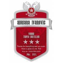 Red Shield - Personalised Vodka Label