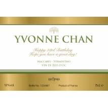 Gold Label - Personalised White Wine Label