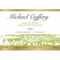 Vineyard - Personalised White Wine Label