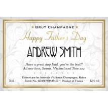 Father's Day - Elegant - Personalised Champagne
