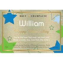 Stars - Father's Day Personalised Champagne