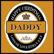 Personalised Christmas 4pk Brown Beer Bottle Labels