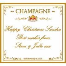 Personalised Christmas Champagne Bottle Label