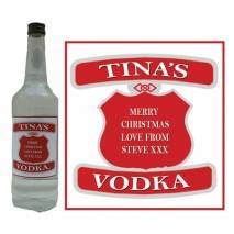 Personalised Vodka Bottle Label