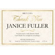 Thank You - Floral Personalised Cava