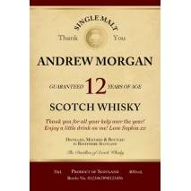 'Thank You' Personalised 12 Yr Old Malt Whisky