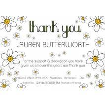 Thank You - Daisies - Personalised White Wine Label