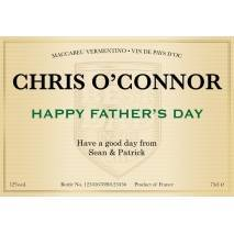 Classic - White Wine - Father's Day Gift Label