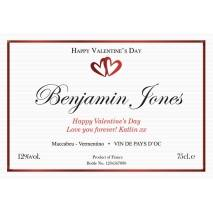 White Valentine - Personalised White Wine Label