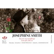 The Kiss for Valentine - Personalised White Wine Label