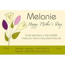 Bouquet - Mother's Day Personalised White Wine Label