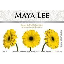 Gerberas - Personalised Mother's Day White Wine Label