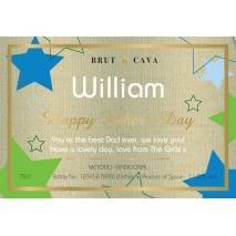 Stars - Personalised Cava for Father's Day