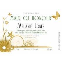 'Flowers' - Wedding - Personalised White Wine