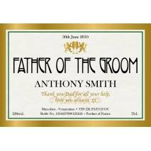 Gold Frame - Personalised White Wine for Weddings Label