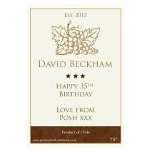 Personalised Traditional Wine Bottle Label NEW Design