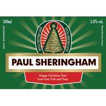 Personalised Christmas Lager label