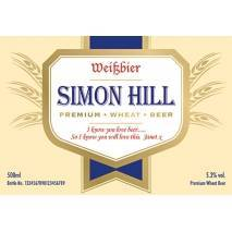 Personalised Wheat Beer modern label
