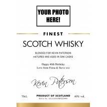 Personalised Photo 'Classic' Blended Whisky