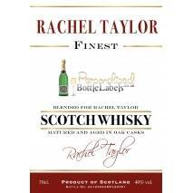 Personalised Whisky Blend 'Historic' style label