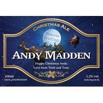 Personalised Bottle of Christmas Beer
