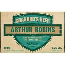 Personalised Grandad's Set Three Pack Craft Beer