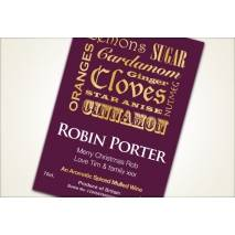 Personalised Mulled Wine Label - authentic design