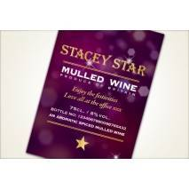 Personalised Mulled Wine Label- modern design