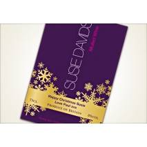Personalised Mulled Wine Label - snowflake design