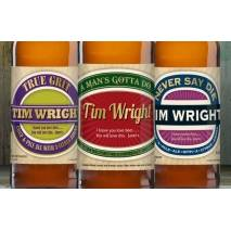 Personalised Man's Set Three Pack Craft Beer