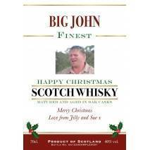 Personalised Whisky Blend Corporate Christmas Photo Label