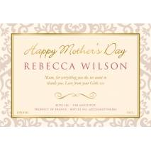 Personalised Mother's Day Sparkling Rosé Wine Label