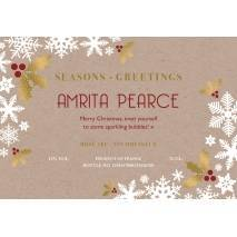 Snowflakes Personalised Christmas Sparkling Rosé Label