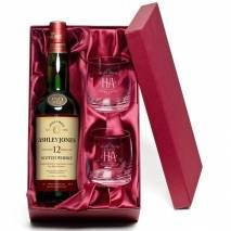 Personalised 'Happy Anniversary' 12 YO Malt & Tumblers