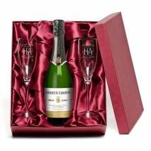 "Personalised ""Happy Anniversary"" Cava and Flutes"