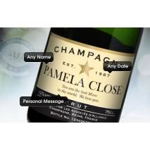 """Personalised """"Happy Anniversary"""" Champagne & Flutes"""