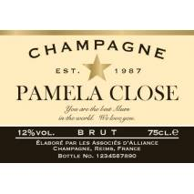 """Personalised """"Congratulations"""" Champagne & Flutes"""