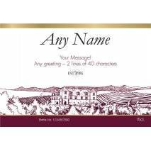 """Personalised """"Just for You"""" Red Wine & Engraved Glasses"""